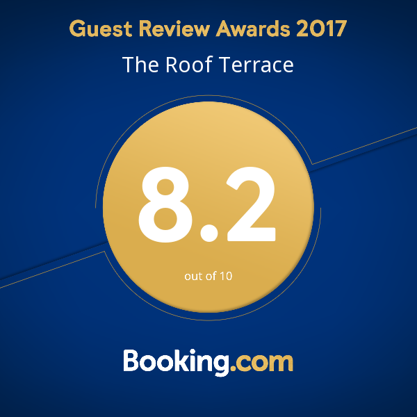 Worthing Accommodation Booking.com Awards - The Roof Terrace
